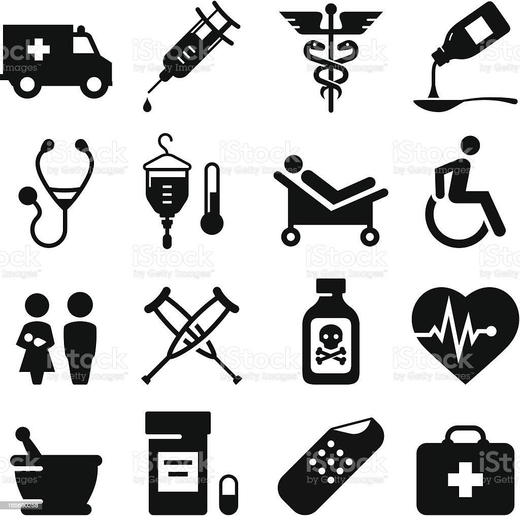 Medical Icons - Black Series royalty-free stock vector art
