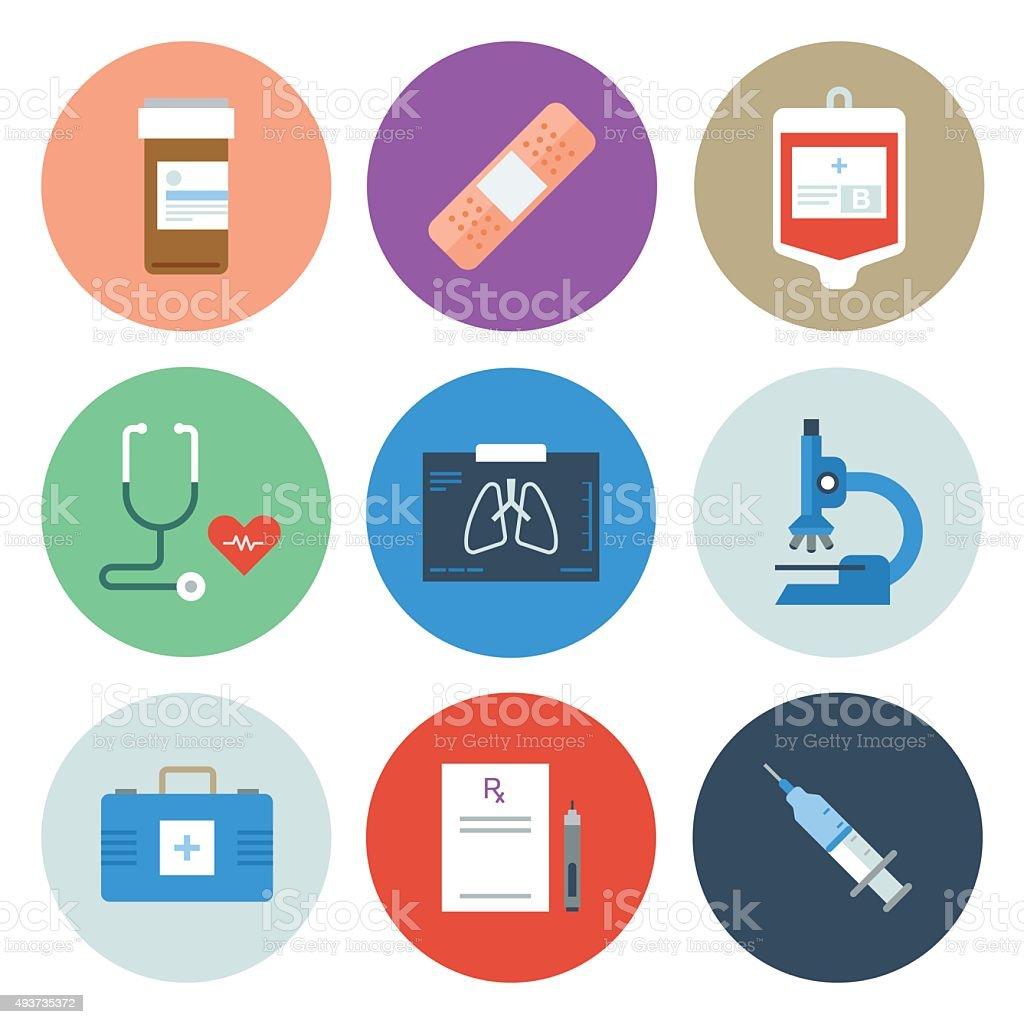 Medical Icons — Circle Series vector art illustration