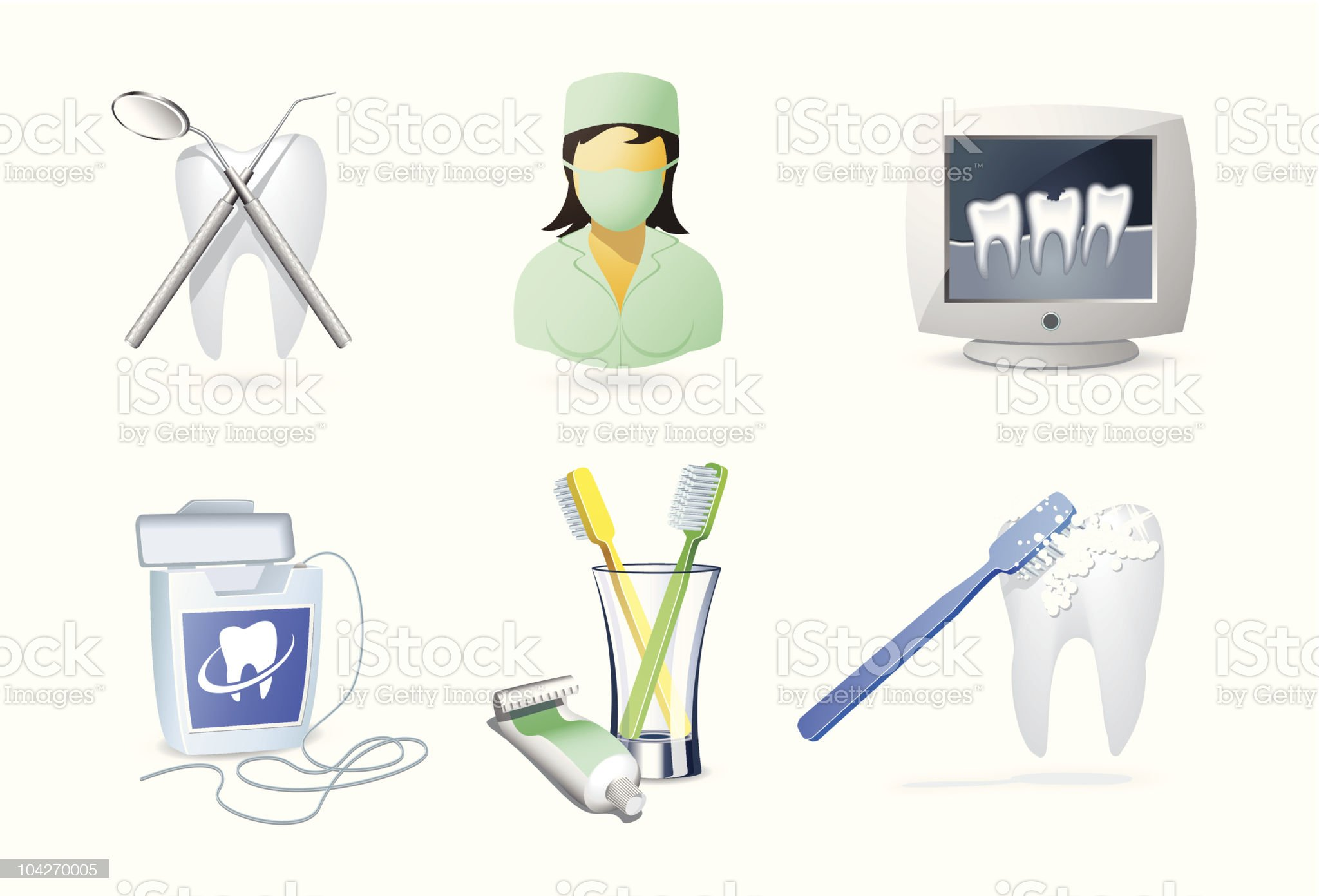 Medical icons | Dentistry royalty-free stock vector art