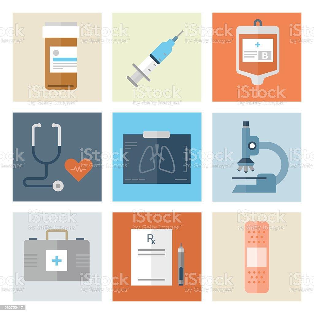 Medical Icons — Flat Series vector art illustration
