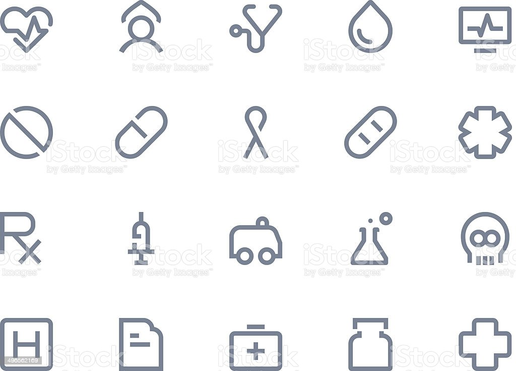 Medical icons. Line series vector art illustration