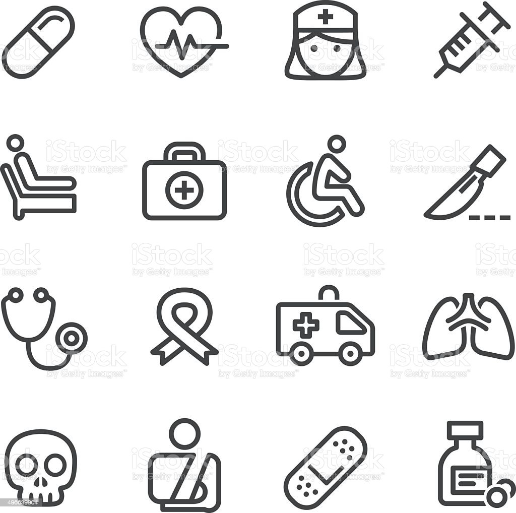 Medical Icons - Line Series vector art illustration