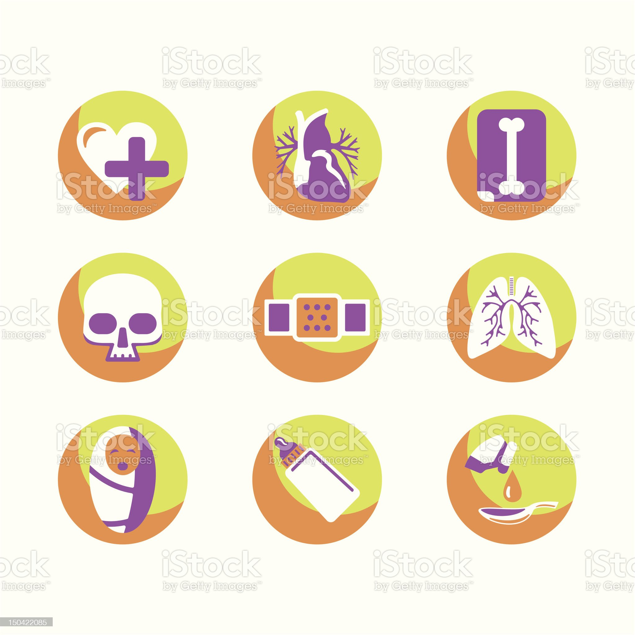 Medical Icons Series royalty-free stock vector art