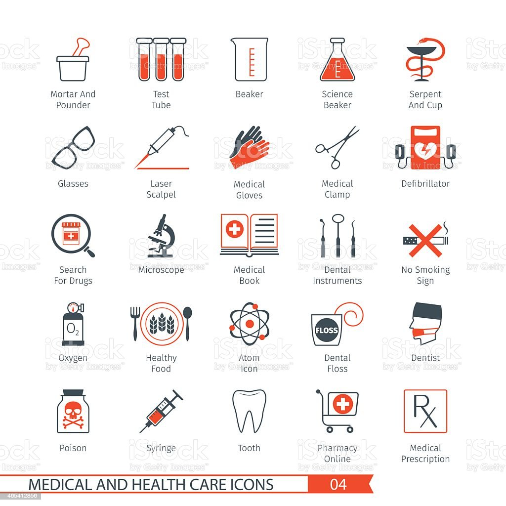 Medical Icons Set 04 vector art illustration