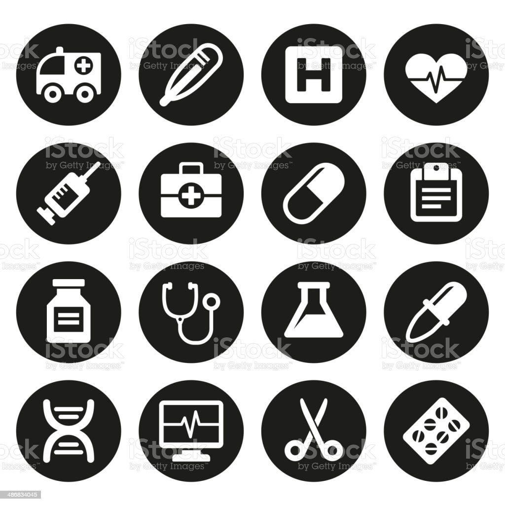 Medical icons set 1 royalty-free stock vector art