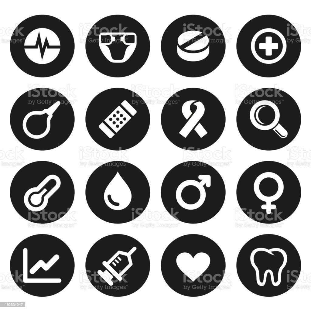 Medical icons set 2 royalty-free stock vector art