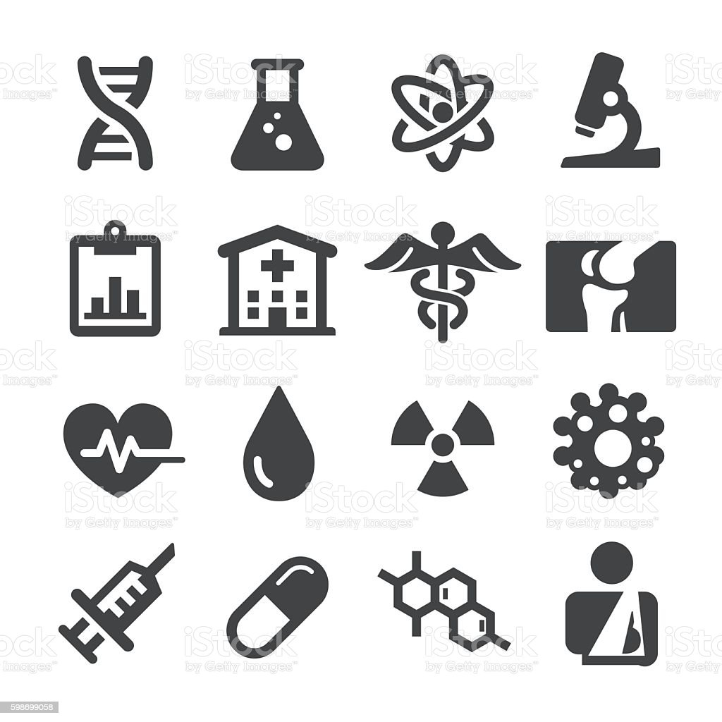 Medical Icons Set - Acme Series vector art illustration