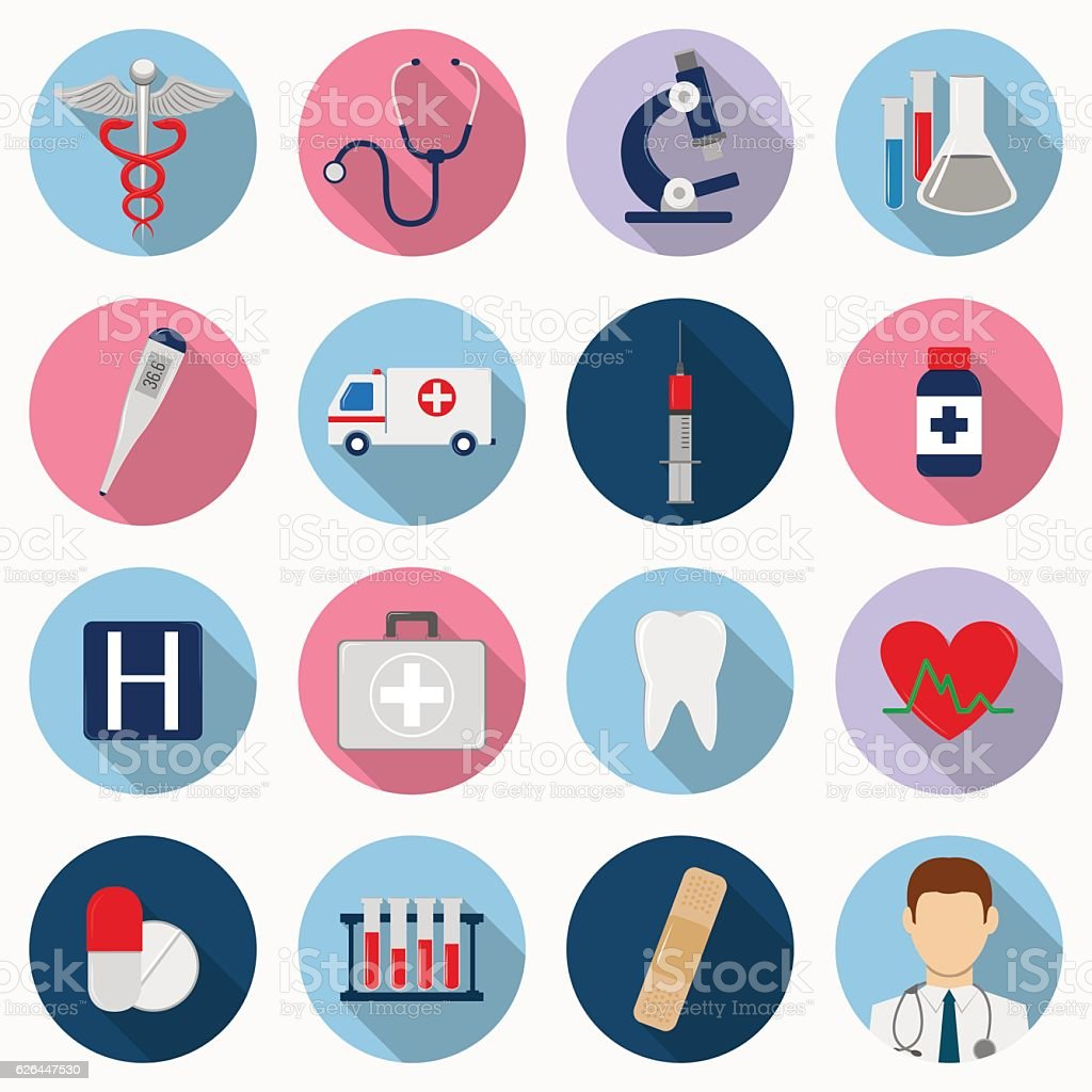 Medical icons set. Healthcare icons. Vector royalty-free stock vector art