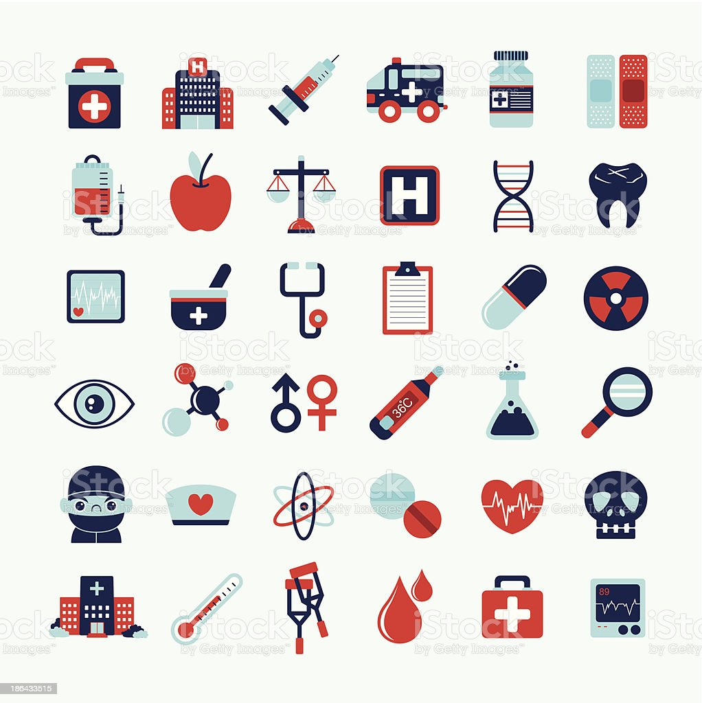 Medical icons set, . royalty-free stock vector art