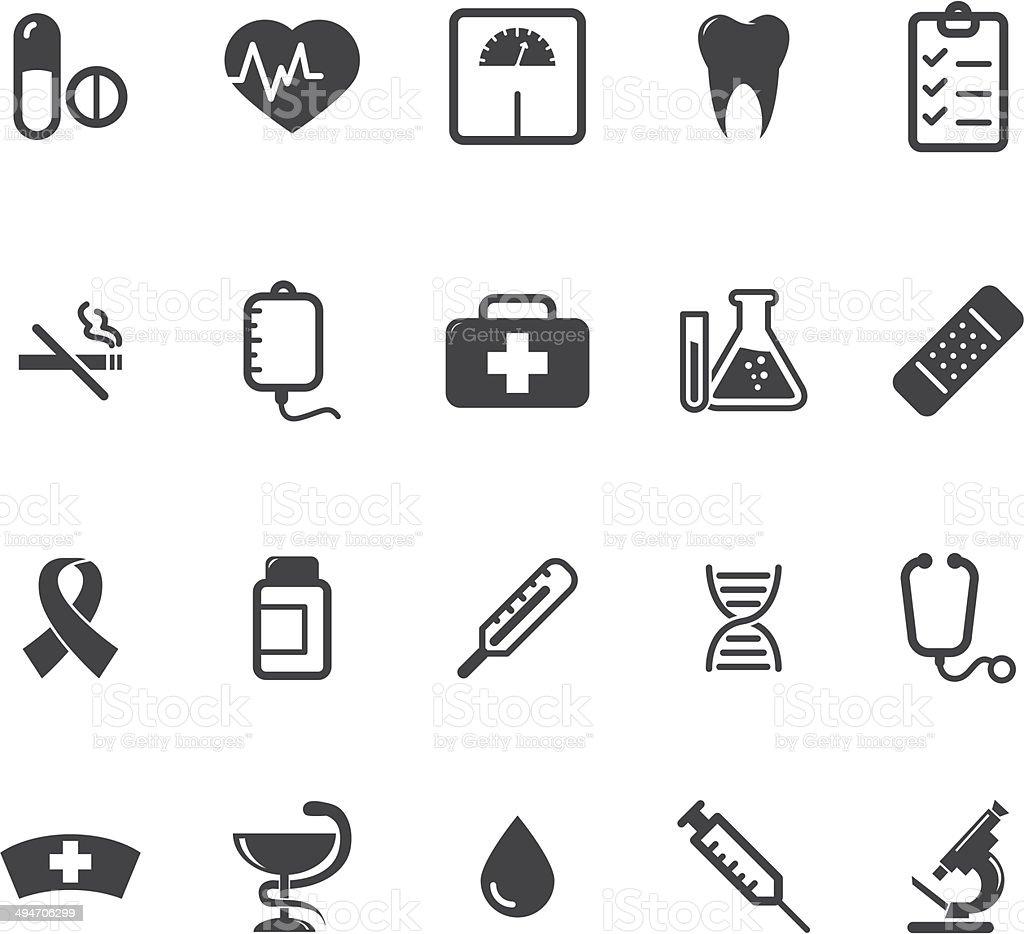 Medical icons set vector art illustration