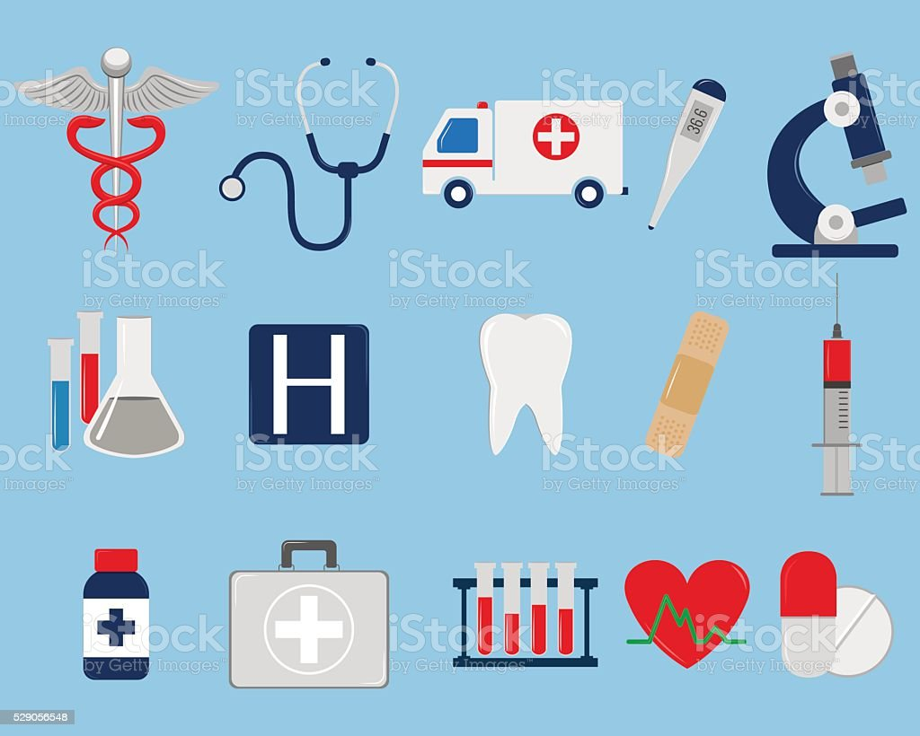 Medical icons set. Vector royalty-free stock vector art