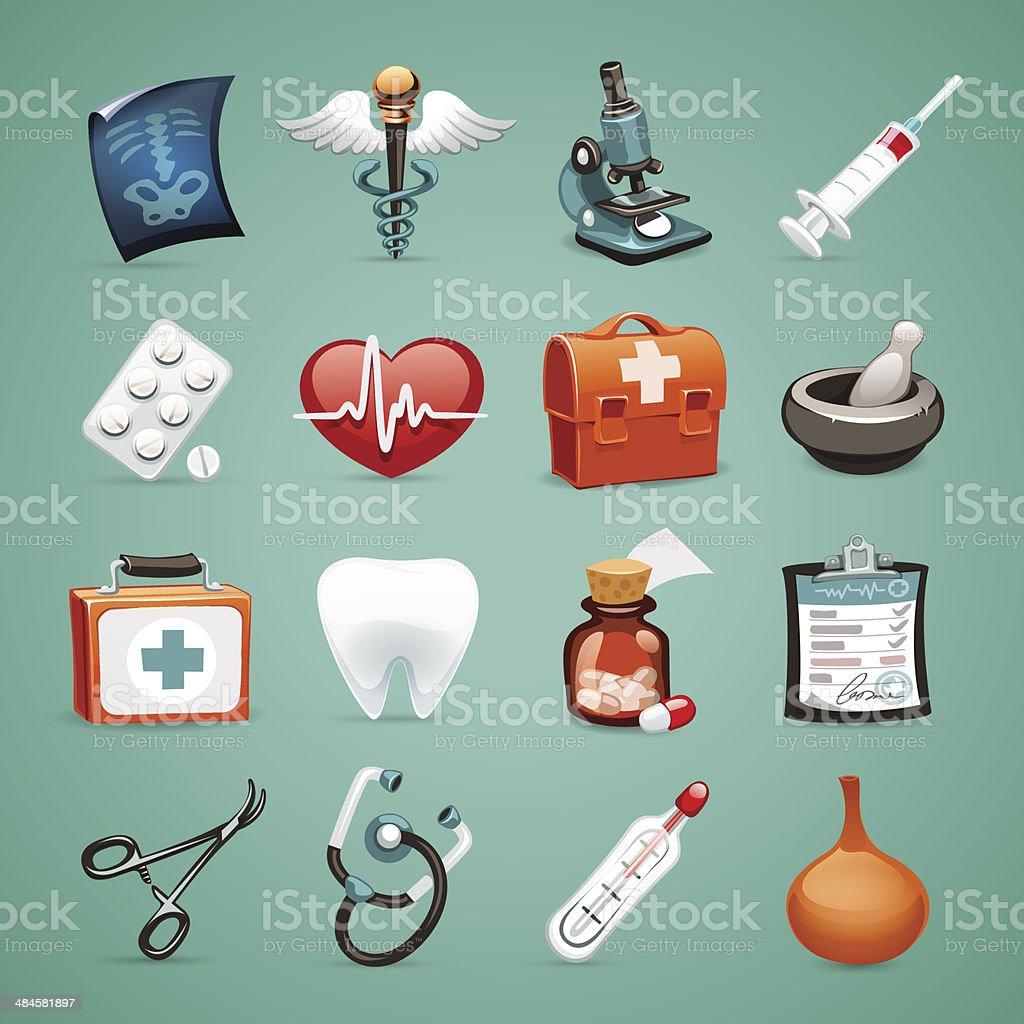 Medical Icons Set1.1 vector art illustration