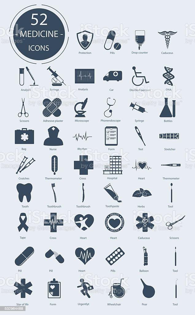 Medical icons. Vector elements vector art illustration