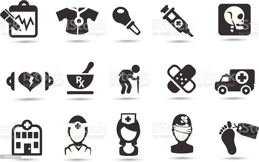 Medical Icons vector art illustration