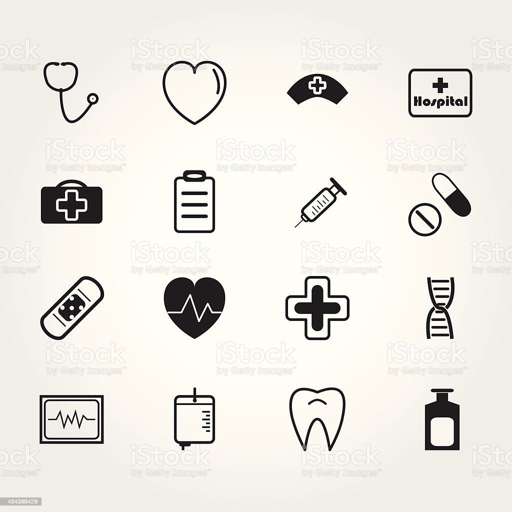 medical icons royalty-free stock vector art