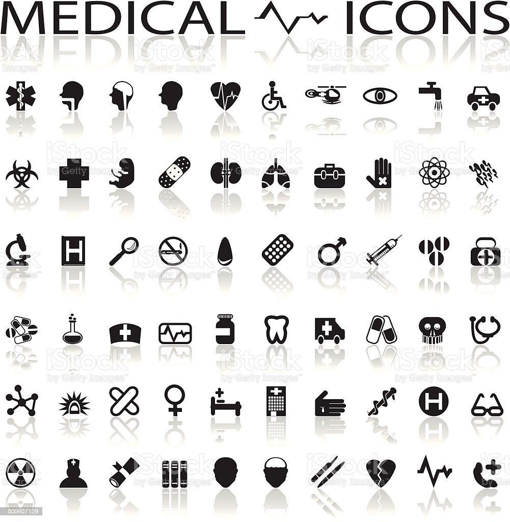 Medical Icons vector art illustration