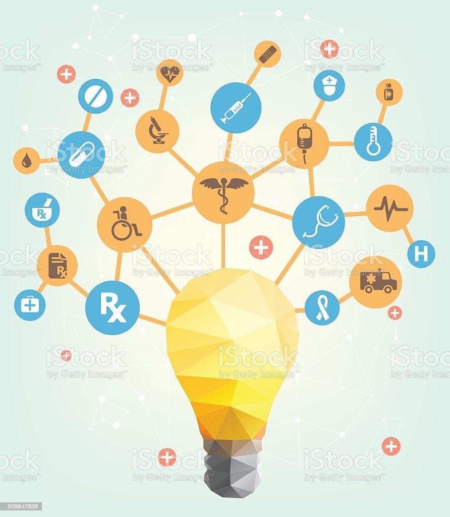 Medical idea design vector art illustration