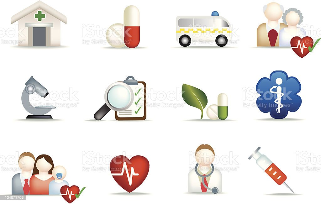 medical illustration set royalty-free stock vector art