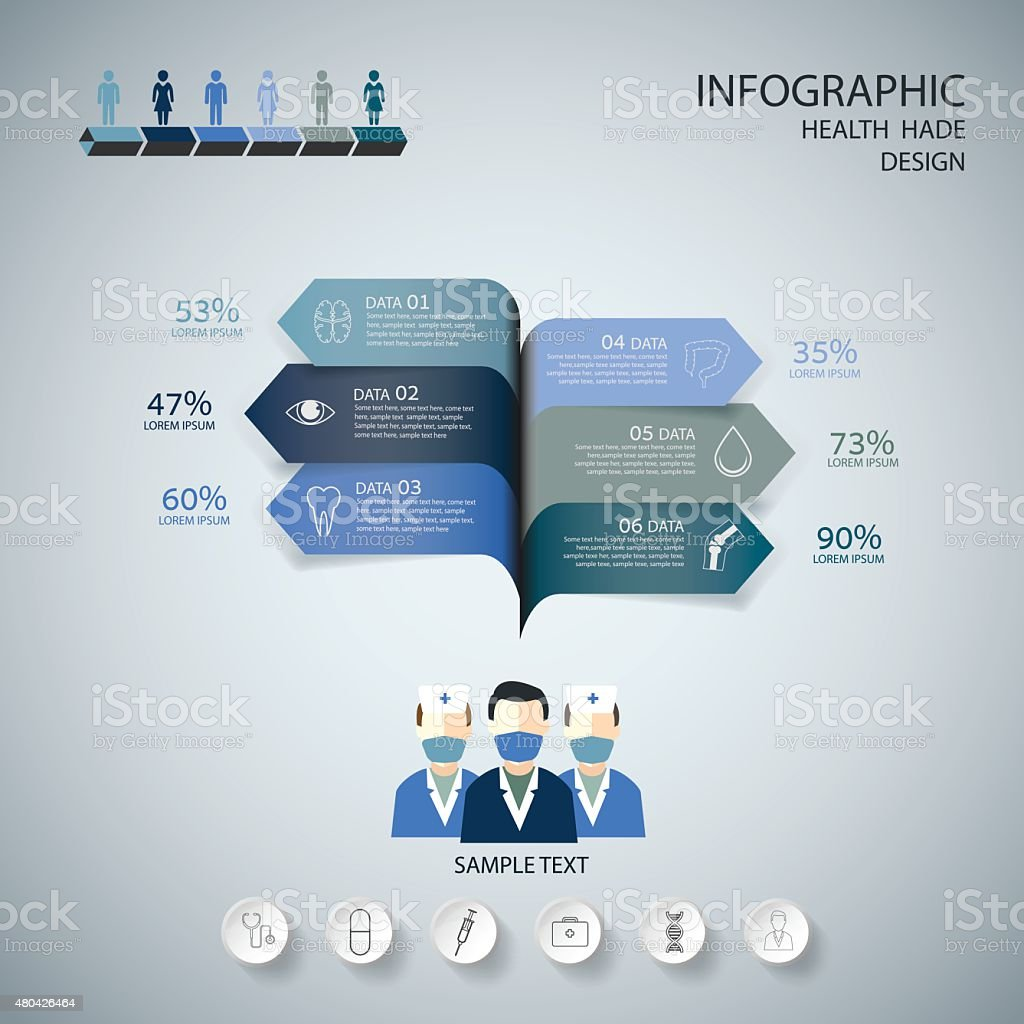 Medical Infographic Design set.  graphic or website layout vector. vector art illustration