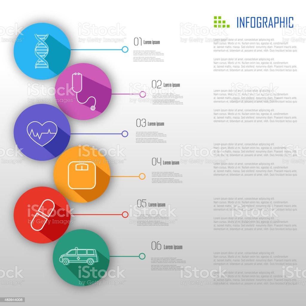 Medical Infographic Design vector art illustration