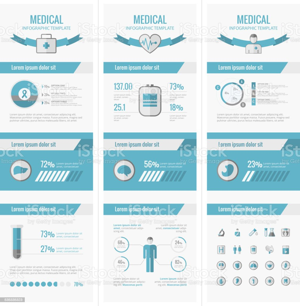 Medical Infographic Elements. vector art illustration