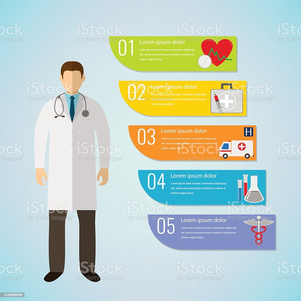 Medical Infographic template. Vector royalty-free stock vector art