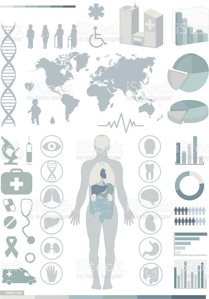Medical infographics. vector art illustration