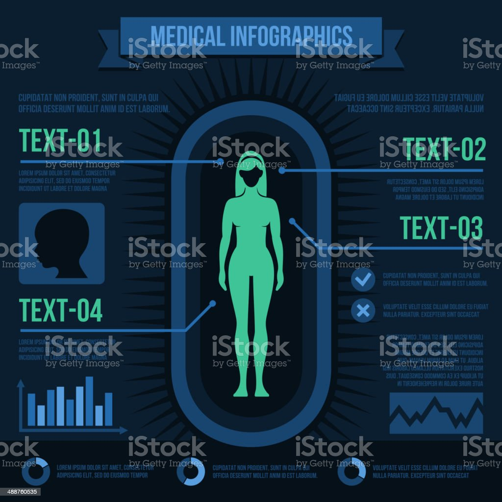 Medical Infographics royalty-free stock vector art