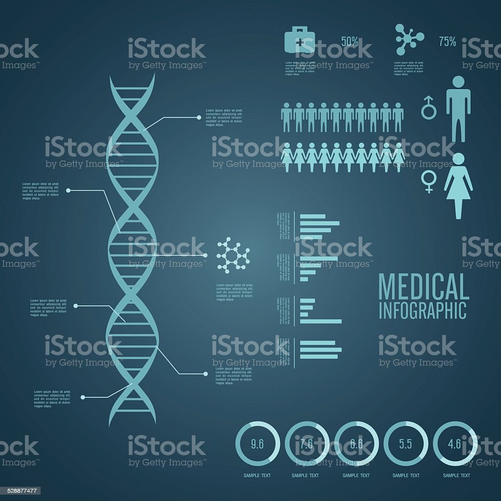 Medical Infographics vector art illustration
