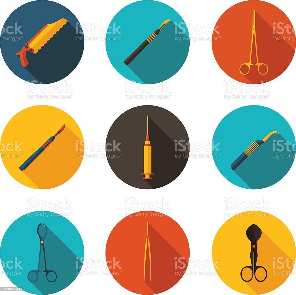 medical instruments vector art illustration