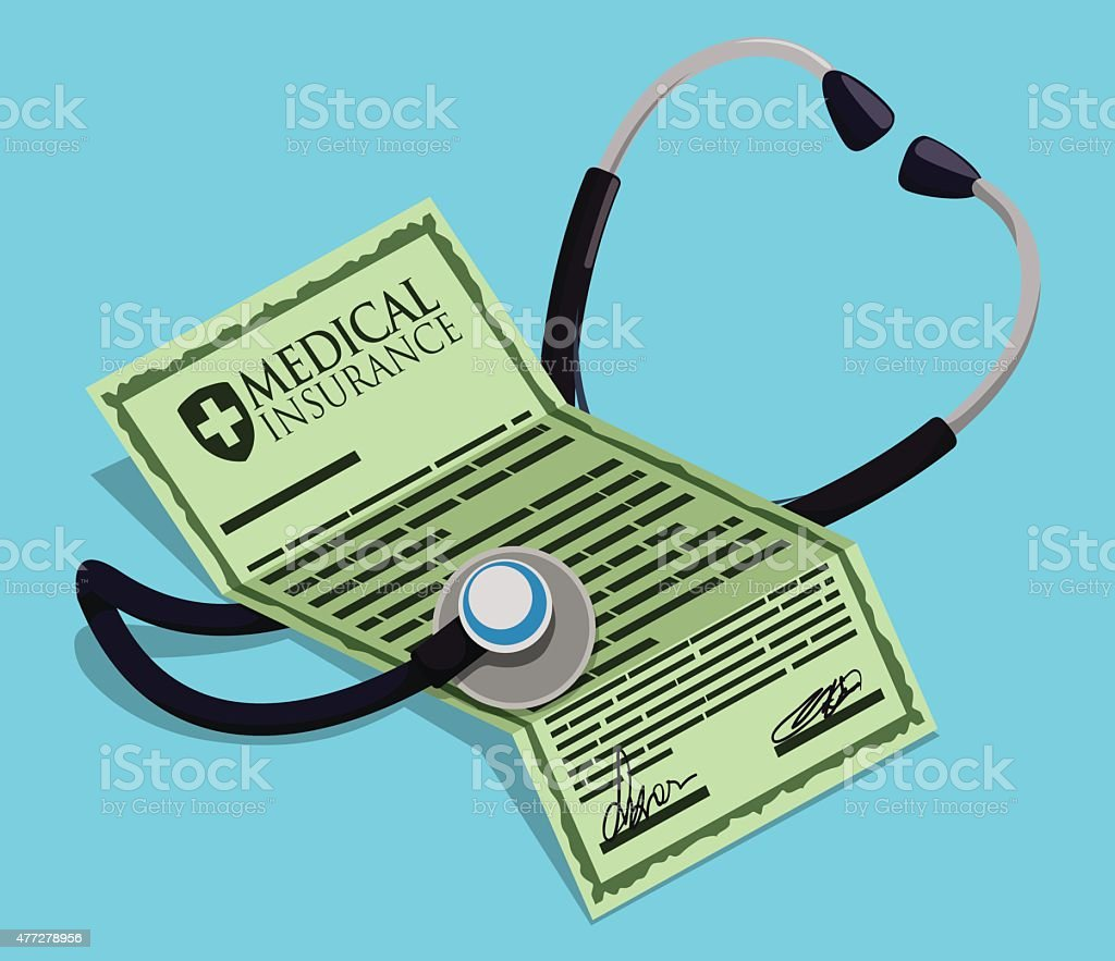Medical insurance design. vector art illustration