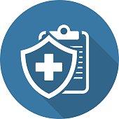 Medical Insurance Icon. Flat Design.