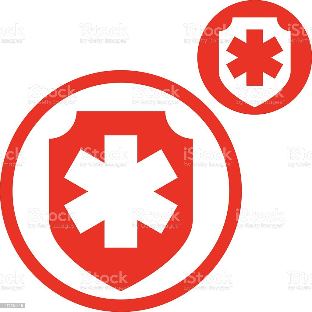 Medical insurance vector simple single color icon isolated vector art illustration