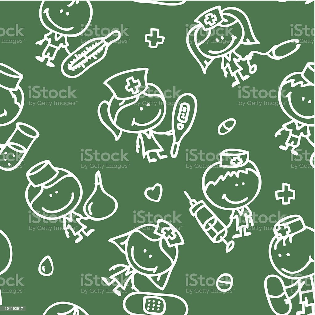 Medical kids pattern royalty-free stock vector art