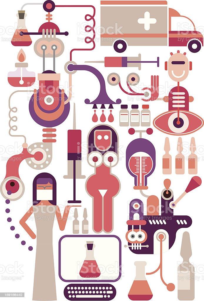 Medical laboratory - vector illustration stock photo