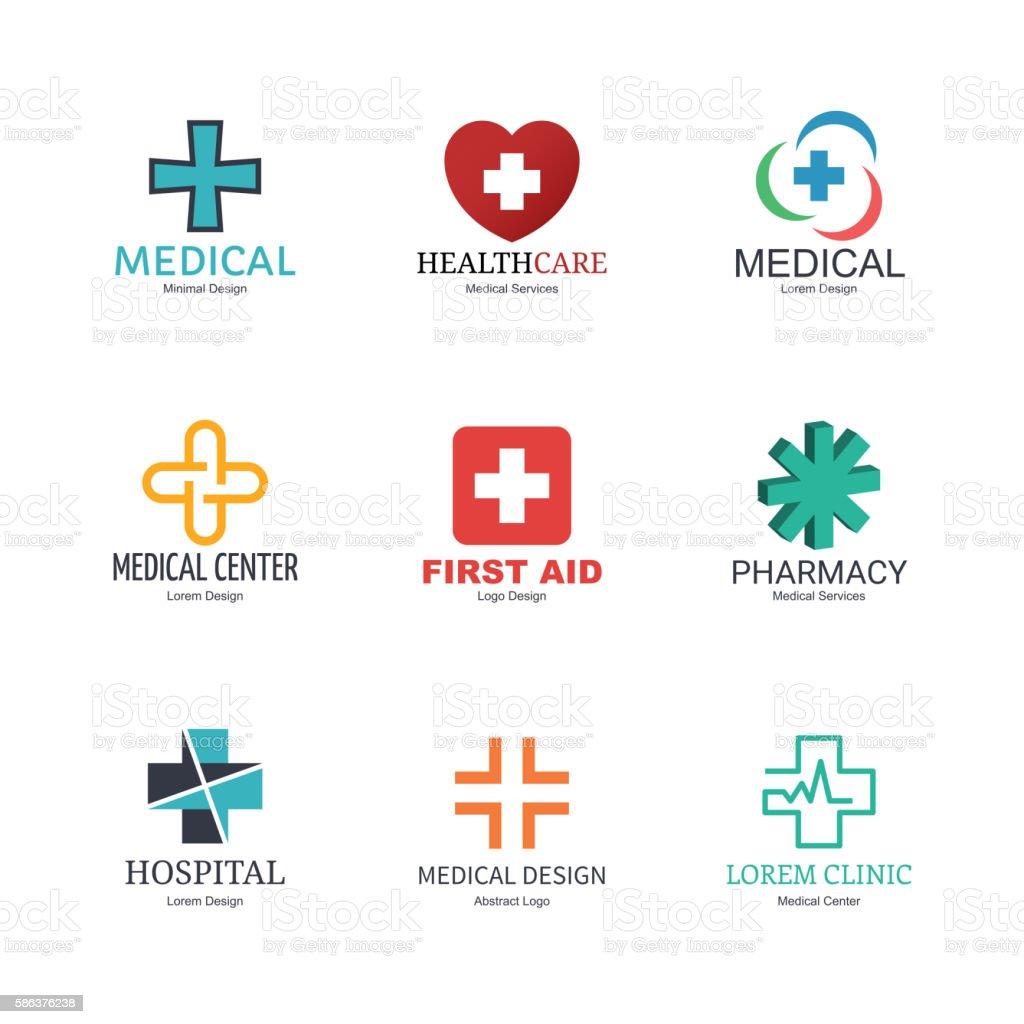 medical logo design vector art illustration