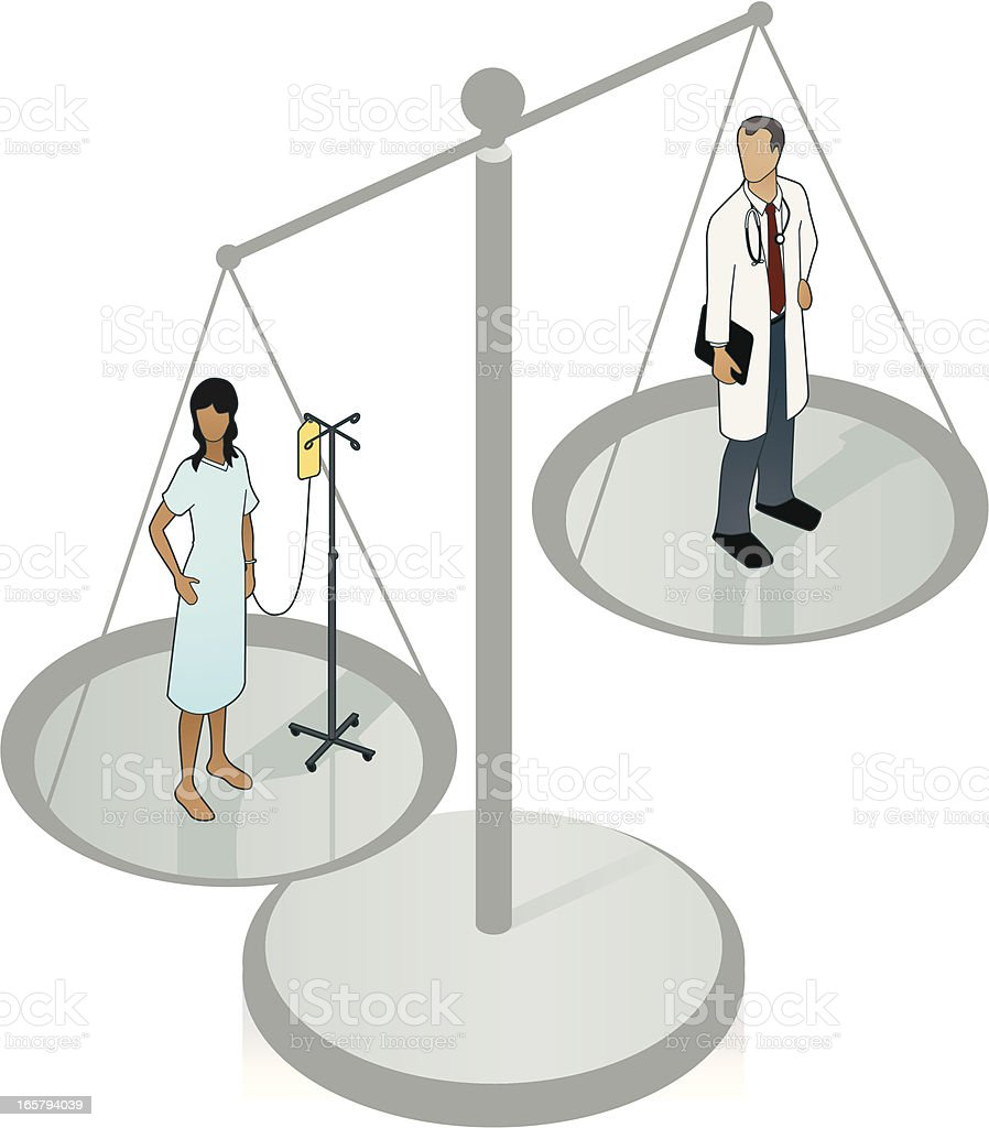 Medical Malpractice Illustration vector art illustration