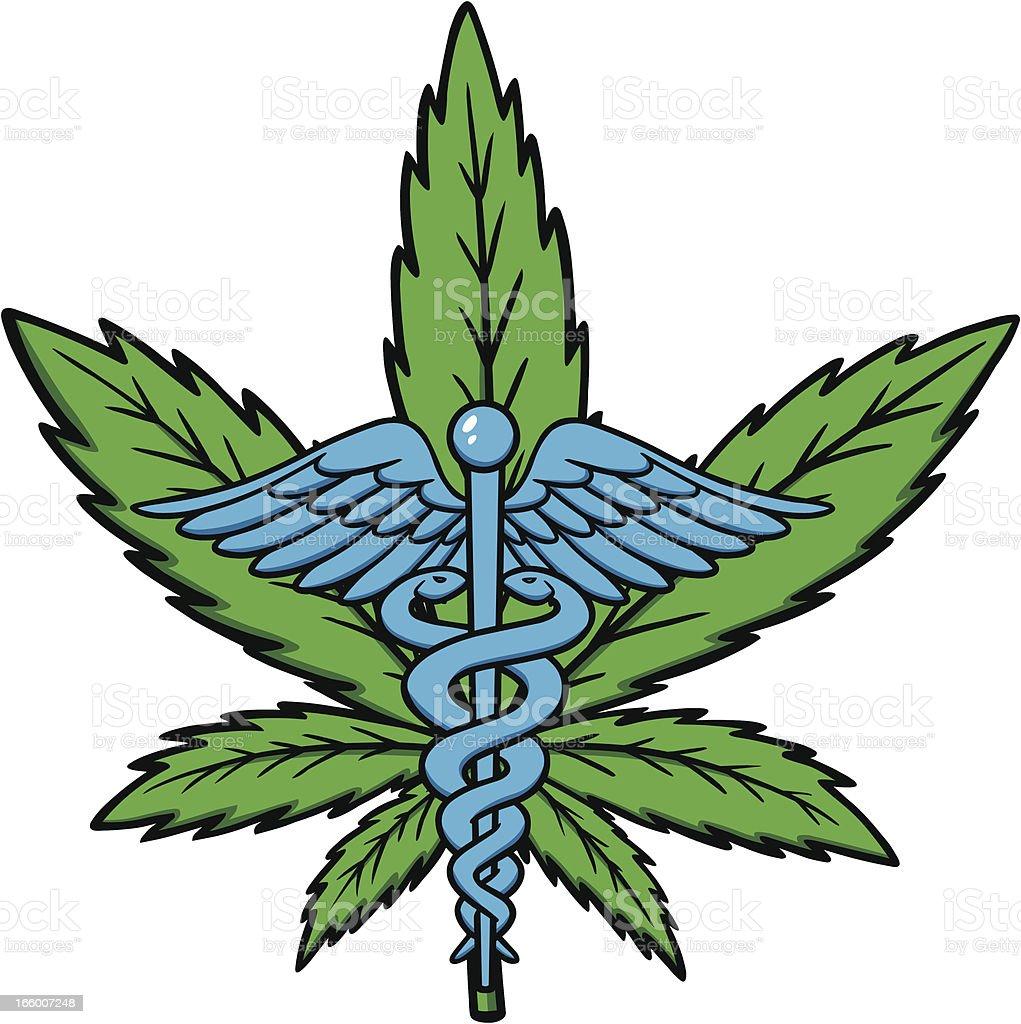Medical Marijuana Icon royalty-free stock vector art