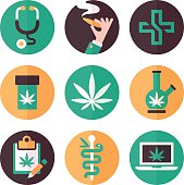 Medical Marijuana Icons and Symbols