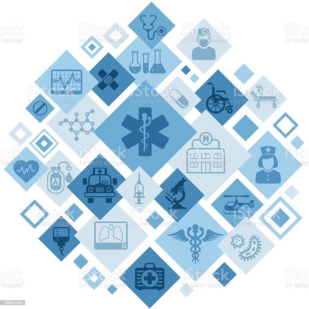 Medical Montage vector art illustration