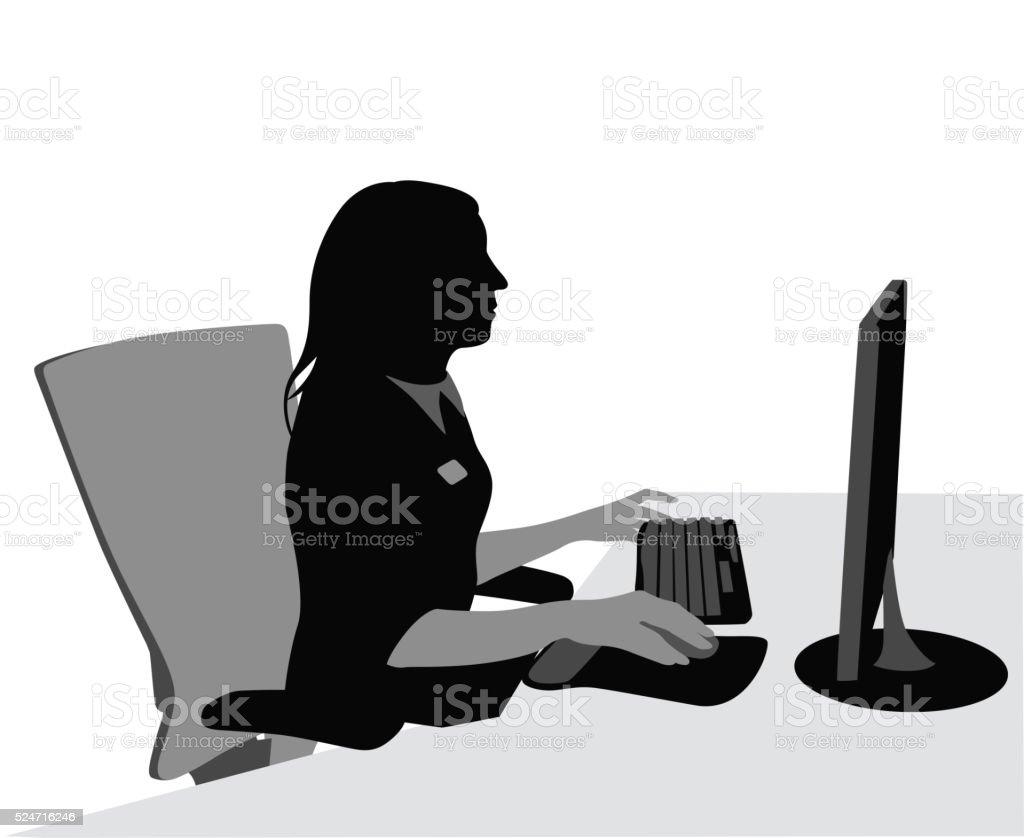 Medical Office Worker vector art illustration