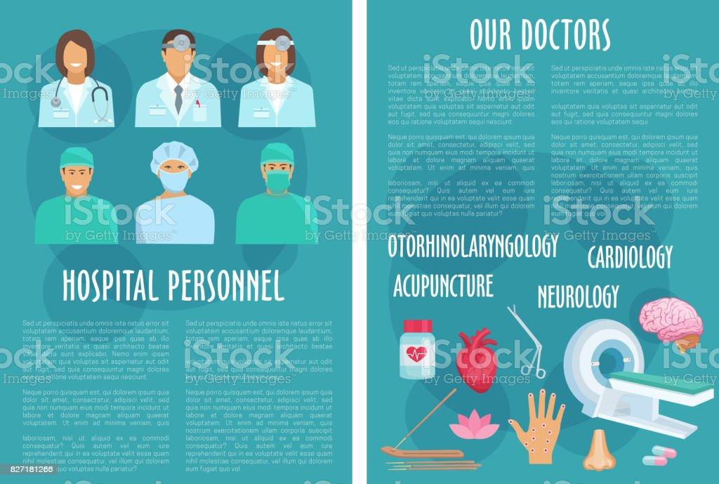 Medical Or Hospital Healthcare Vector Brochure Stock Vector Art
