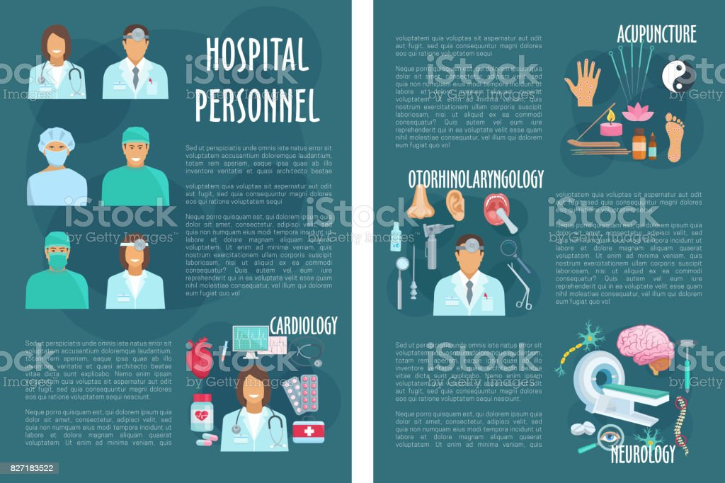 Medical Or Hospital Healthcare Vector Brochure Stock Vector Art