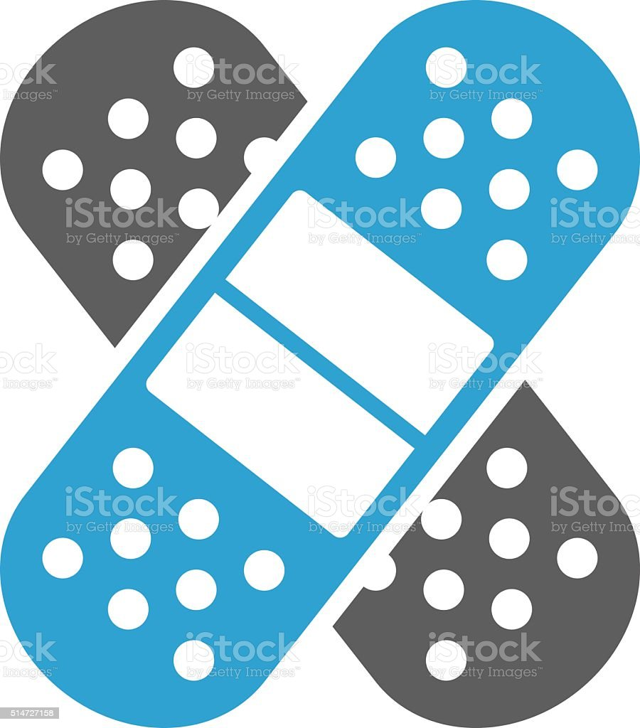 Medical patch icon vector art illustration