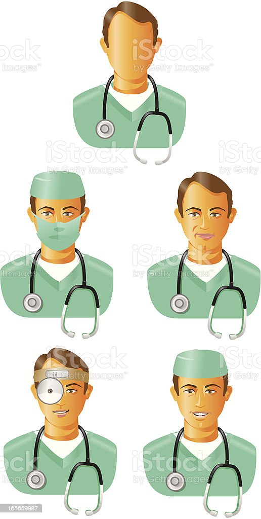 Medical personnel surgeon vector art illustration