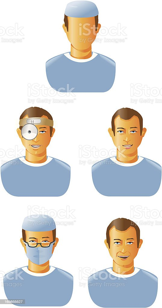 Medical personnel technician royalty-free stock vector art