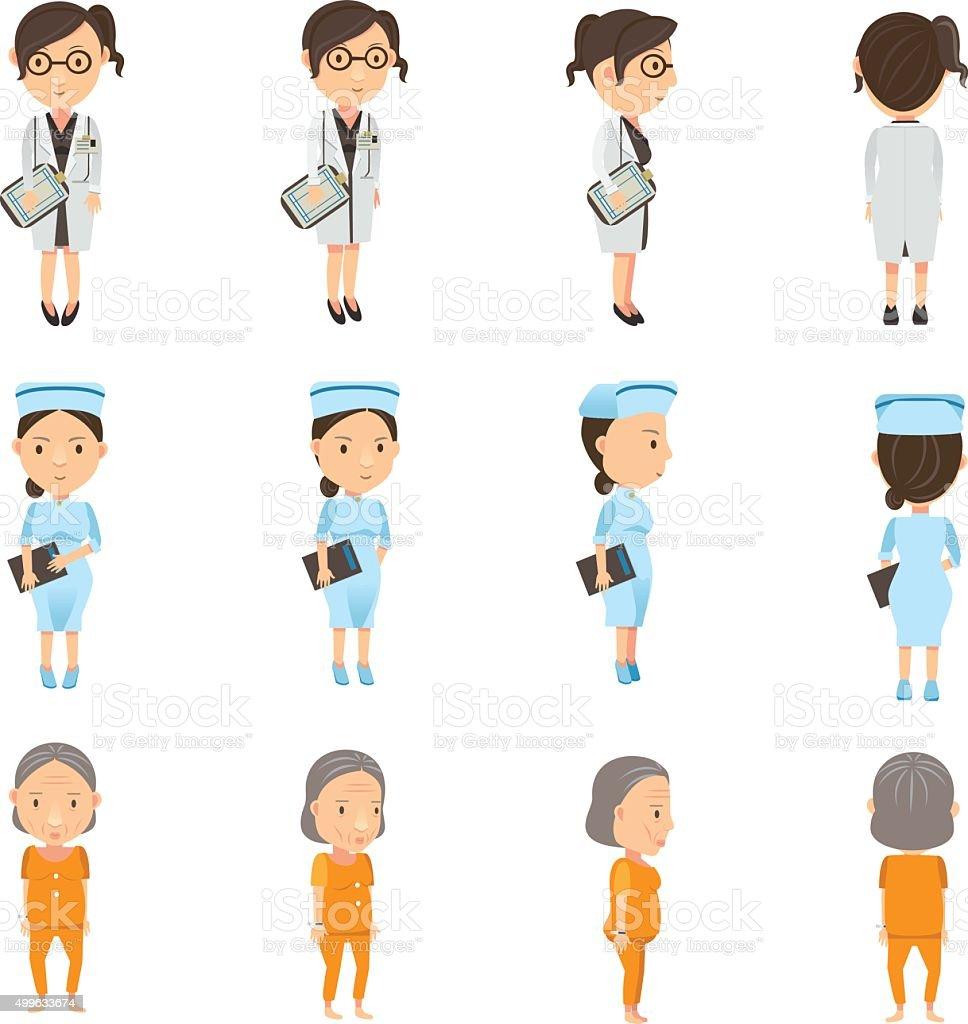 Personale medico (female illustrazione royalty-free