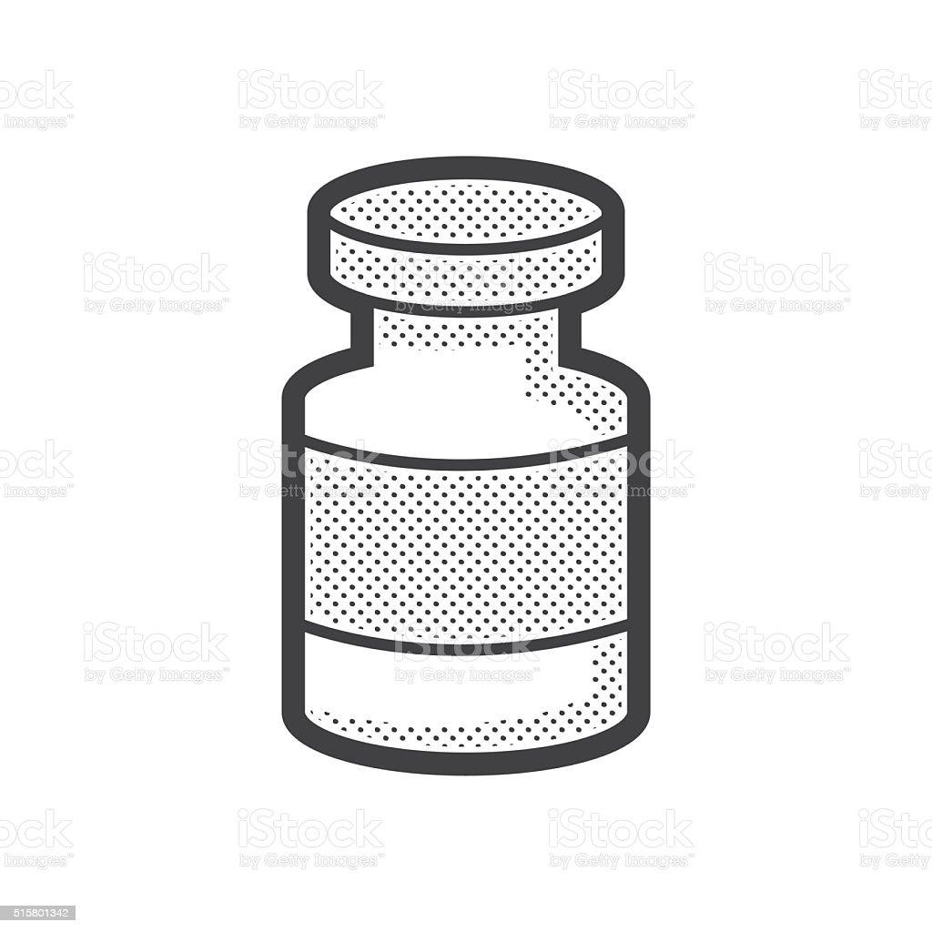 Medical Pharmacist, Drug wound icon vector art illustration