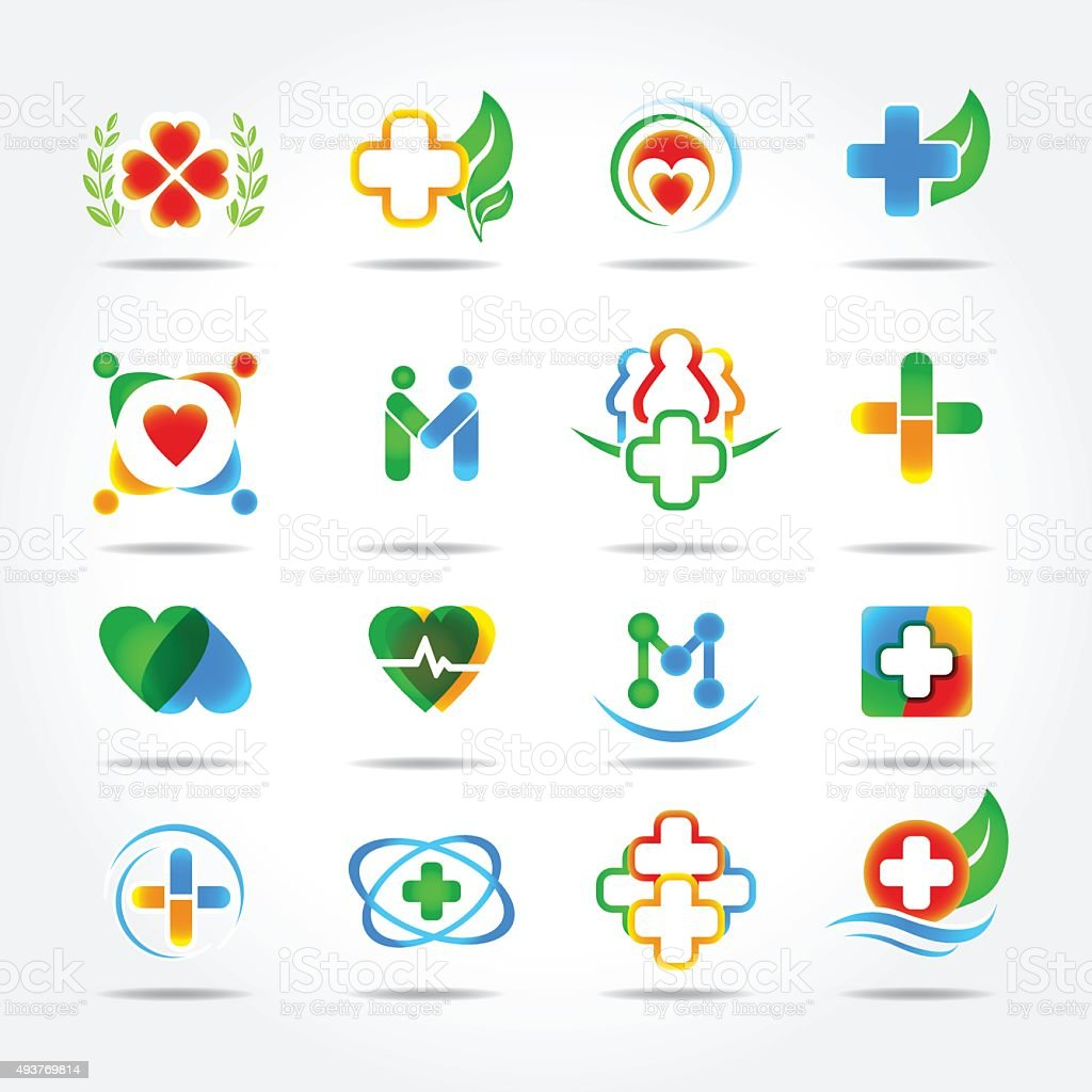 Medical Pharmacy And Health Care Logo Design Templates