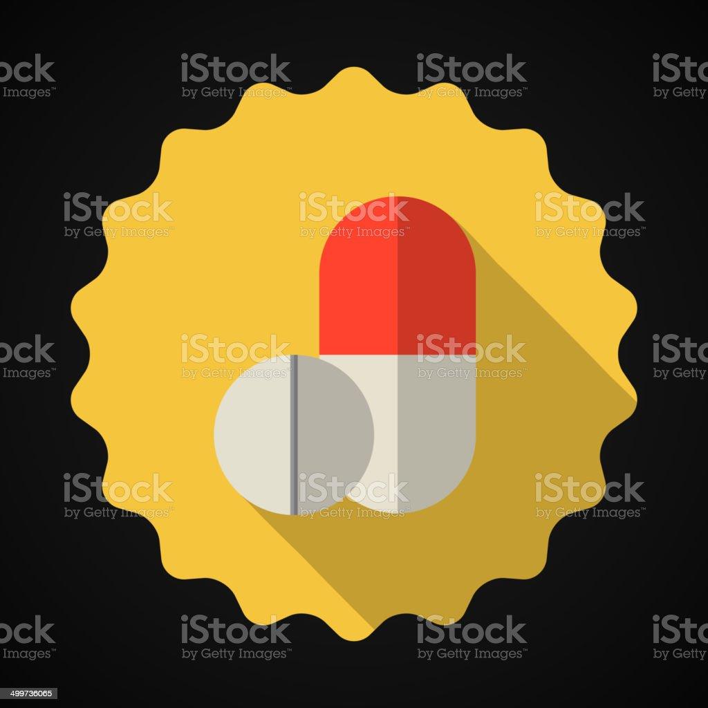 Medical Pill Flat Vector Icon royalty-free stock vector art